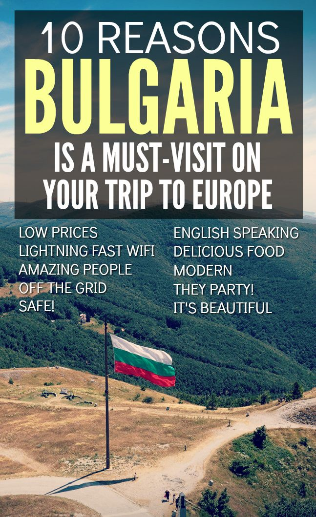 Heading to Europe? Don't leave Bulgaria off your list. Not heavily visited of the Eurotrip trail, but take a little detour here and you won't be disappointed! Check out 10 reasons why this might be one of the most underrated countries in Eruope.