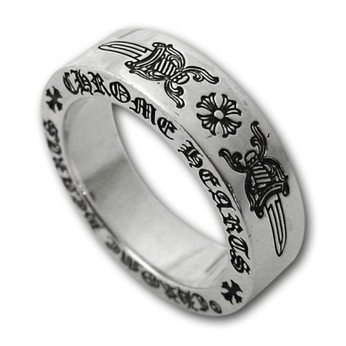 Double Sword Dagger Silver Chrome Hearts Ring Online http://www.chromeheartsonlineoutlet.com/