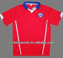 Custom World Cup Soccer T-shirt Dry Fit Chile Football   best seller follow this link http://shopingayo.space