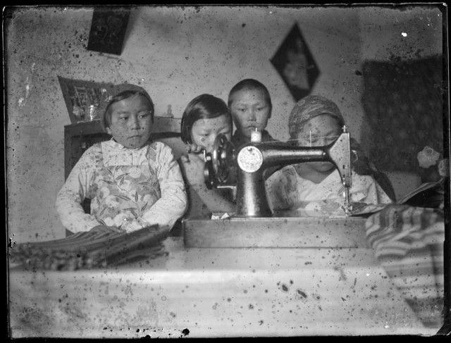Selkup girls, Tyumen oblast 1930s