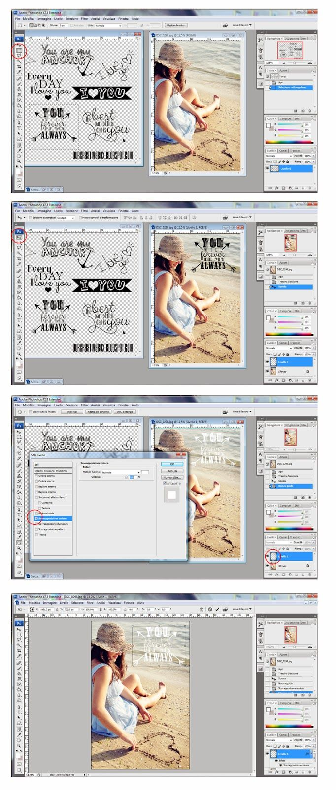 tutorial photoshop add clipart to photos