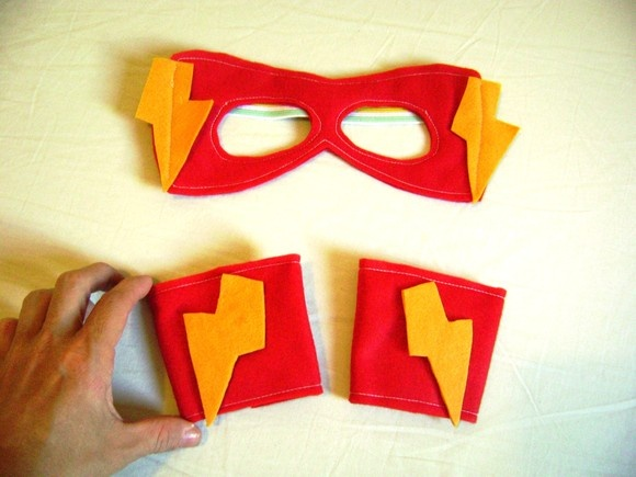 Kit máscara bracelete Super Herói