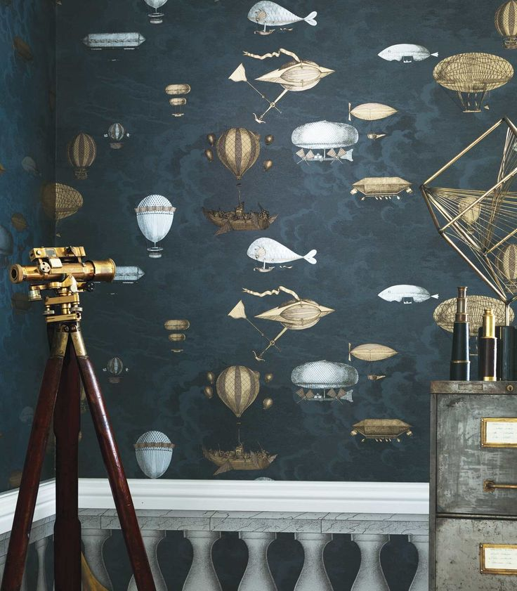 These wondrous flying machines hang amongst the clouds evoking the romantic New World of scientific exploration