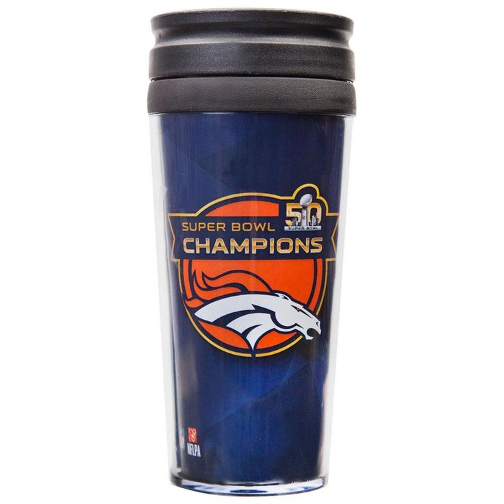 Denver Broncos - Super Bowl 50 Champions Roster 14 oz. Full Wrap Tumbler
