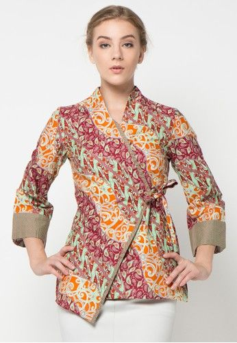 Blouse Batik Seno Sasirangan from Arjuna Weda in red_1