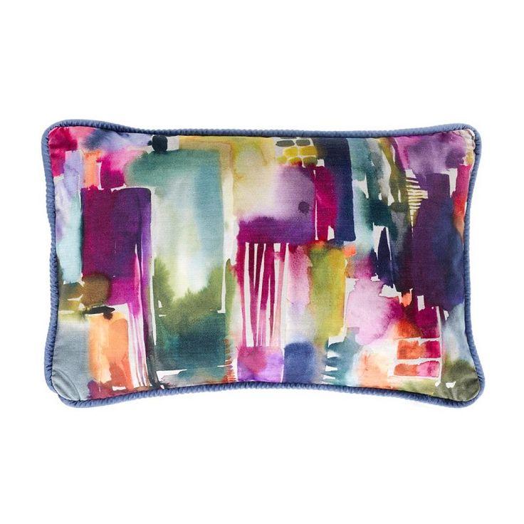 Voyage Maison Sisca Lotus Cushion Available at www.thegreatbritishhome.com #madeinbritain #homedecor #cushion #thegreatbritishhome #brightcushion #watercolour #voyagemaison