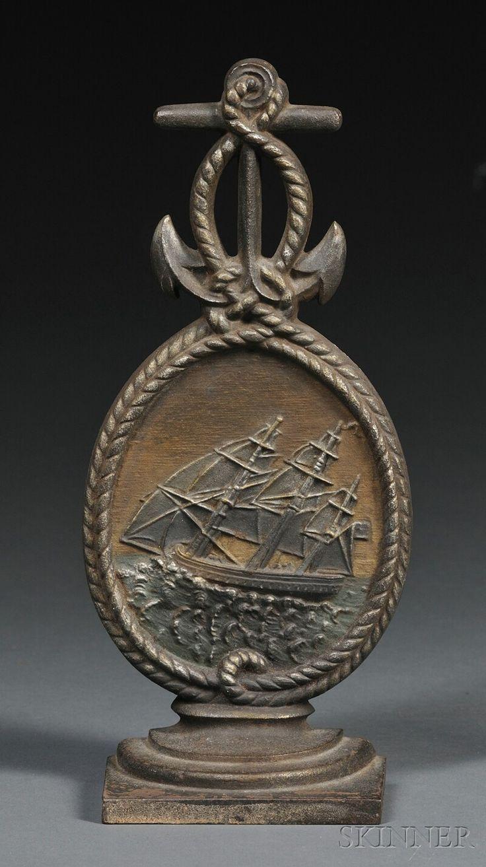 Cast iron door stoppers knockers nautical accents nautical decor - Cast Iron Nautical Doorstop