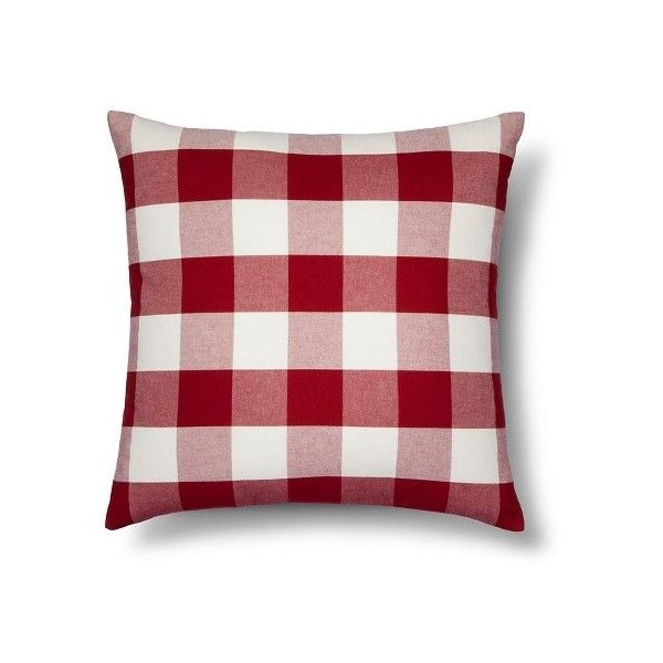 threshold oversized gingham throw pillow target via polyvore featuring home home decor throw pillows oversized throw pillows gingham throw u2026