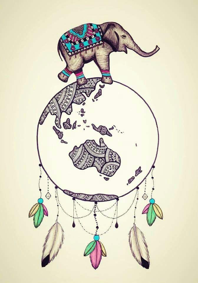 Elephant world dream catcher