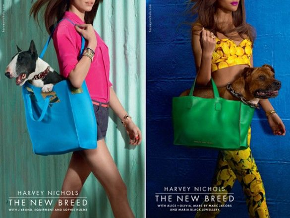 http://pegasebuzz.com/leblog/ | Dogs in Fashion : Miles Aldridge for Harvey Nichols Spring 2013 Campaign