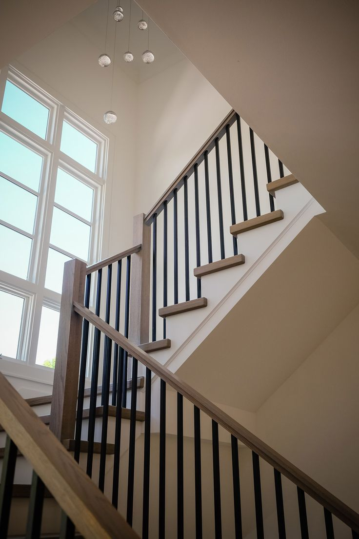 Best Mission Style Staircase In 2020 Staircase Railings 400 x 300