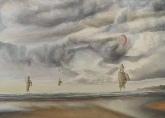 Drifting Towards Extinction  Print from original watercolour