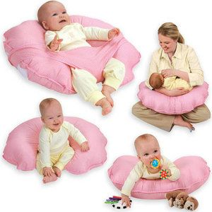 Cuddle-U Infant Support Cushion by Leachco . I love that it has a strap to keep them from slipping down!