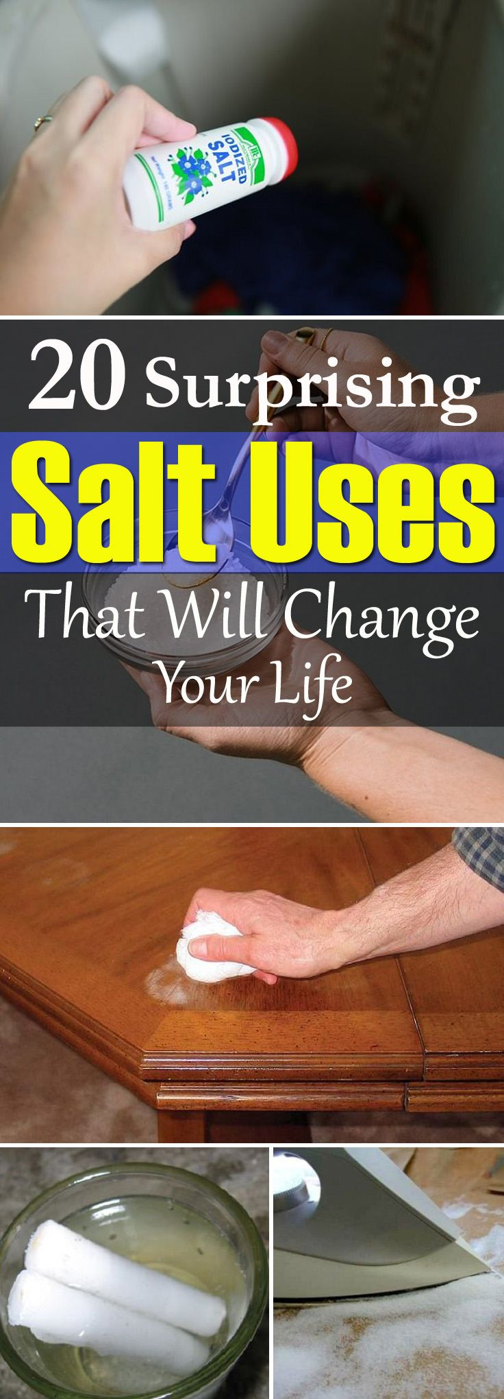 '20 Unusual Ways Salt Can Be Useful In Your Home You Never Knew...!' (via Great Things First)