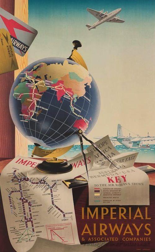 Vintage Airline Posters via Design Mom