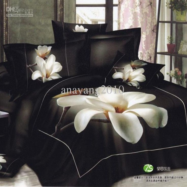 Wholesale Set Bed Buy Black And White Flower Bed Sheets
