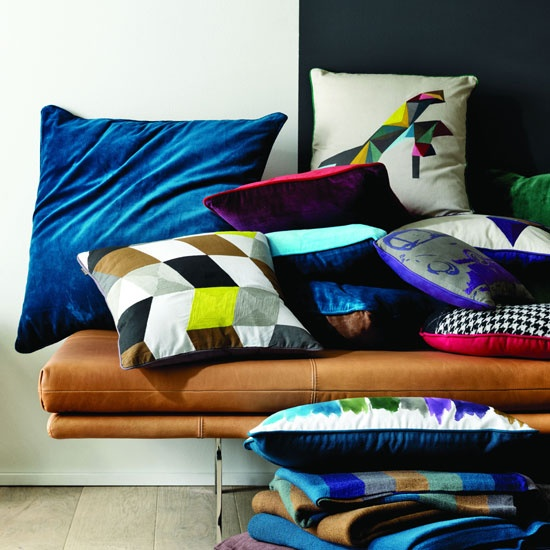 Jewel-coloured cushions from BoConcept
