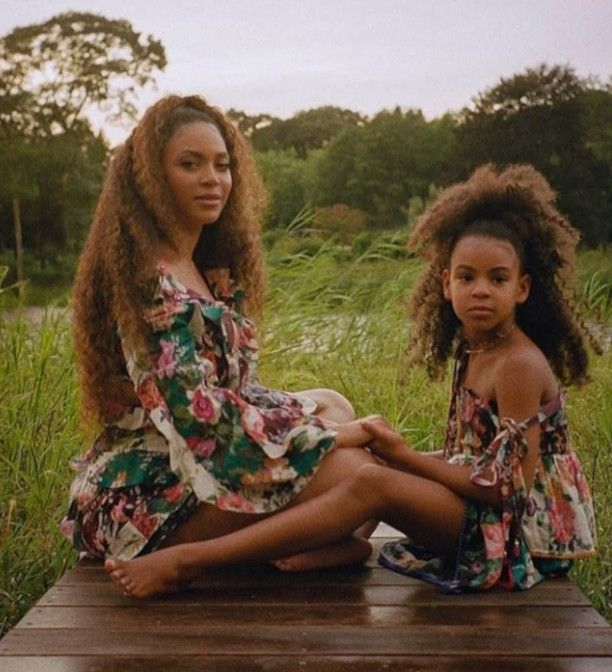 Beyonce Knowles Daughter Blue Ivy Carter Lemonade Braids Long Cornrows Braids On Thick Type 4 Natural Hai In 2020 Braids With Beads Long Hair Styles Men Old Hairstyles