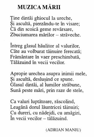 Carmen Sylva - Muzica Marii