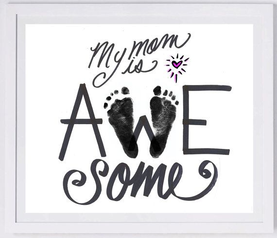 Mother's Day Footprint Art your child's actual