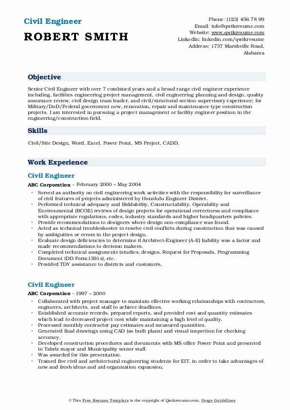 Civil Engineering Intern Resume Inspirational Civil Engineer Resume Samples Civil Engineer Resume Engineering Resume Engineering Resume Templates
