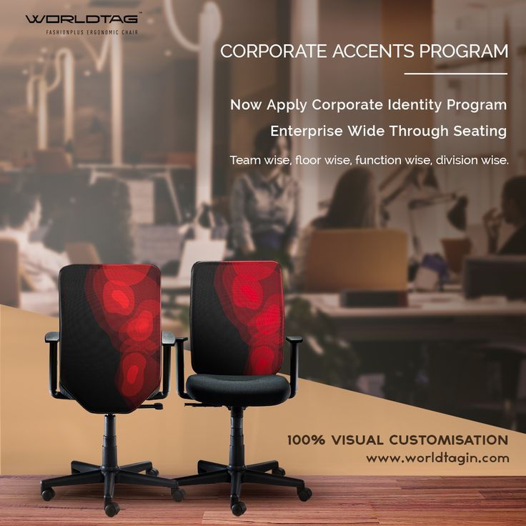 #Corporate #Accents Program: 100% Visual Customization For #interiordesigners & Global Corporations: From #corporateidentity application to colour design accents & Touches. - #worldtag #ColoursForWorkPlace #Startup #workspace #CreativeSpace #Officechair #Productivity Pepperfry #homedecor