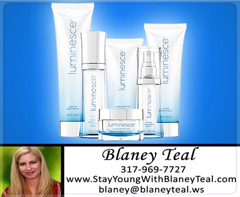 The LUMINESCE™ skincare line, formulated by a world-renowned cosmetic surgeon, offers proprietary, patent-pending stem cell technology that helps your body restore and rejuvenate skin with incredible results. CLICK to order here >>> www.stayyoungwithblaneyteal.com