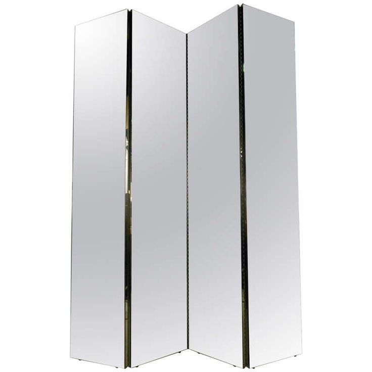 Four Panel Mirrored Room Divider. Mirror FloorFull ...