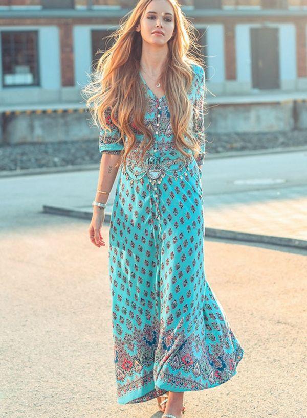 4ea1df0208f9 Summer Floral Printed Sleeveless Backless Lace-Up Crop Top Slit Skirt Set -  ROAWE.COM