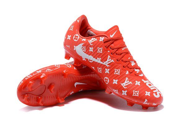 94693e33a29 Mercurial Superfly LV Men s Firm-Ground Soccer Red   White Cleat Boots