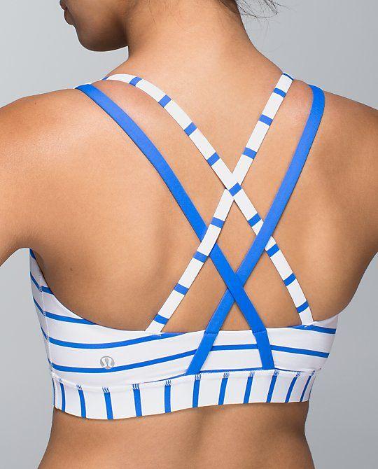 Pretty blue stripes energy bra from Lululemon