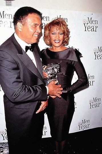 Whitney with Muhammad Ali