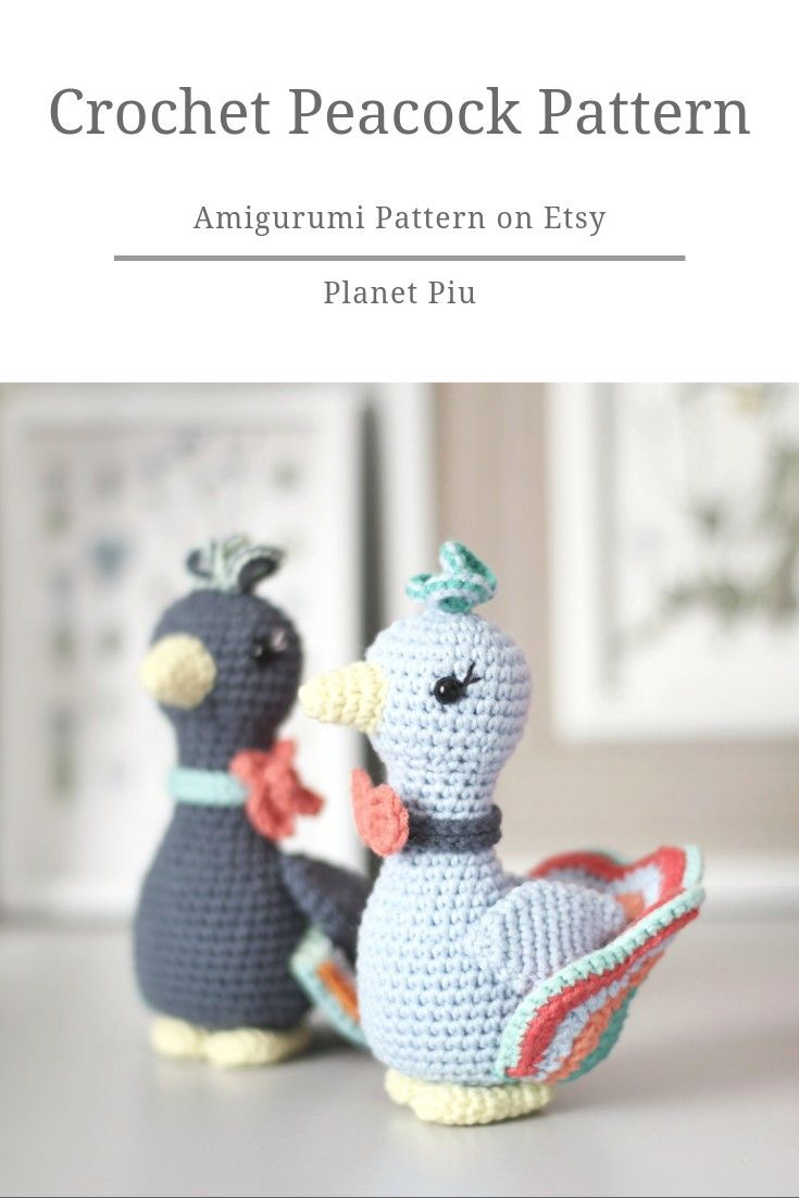 Crochet Amigurumi Patterns Birds - Robin, Blue Tit & Goldfinch - | 1102x735