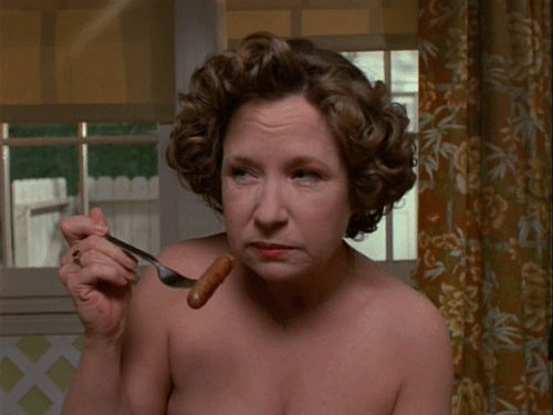 She's got a look that can stop you in your tracks.even when she's nude | 28 Reasons You Wish Kitty Forman Was Your Mom