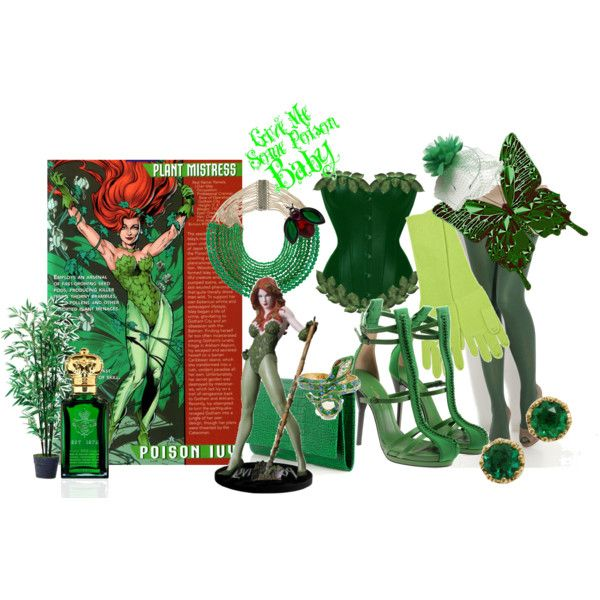 """""""DIY Halloween Costume: Poison Ivy"""" by ticklethik on Polyvore"""