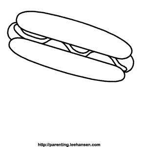 hot dog coloring page Paper Piece
