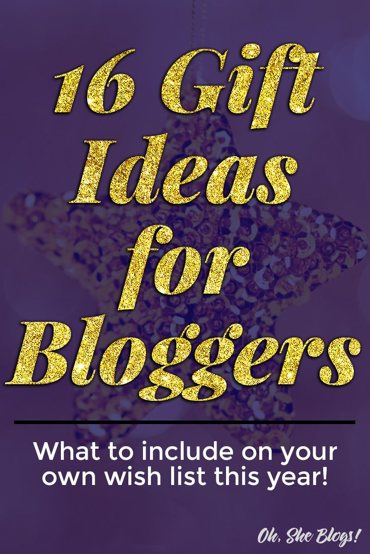 16 Gift Ideas for Bloggers: Whether you want something small or large this list of gift ideas for bloggers is full of inspiration.