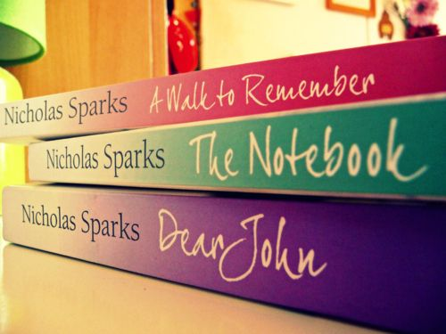 """I'm a sucker for a romantic love story & of course Nicholas Sparks is the father of 21st century romance novels.  """"A Walk to Remember,"""" """"The Notebook,"""" & """"Dear John""""  are some of my favorite novels & movies."""