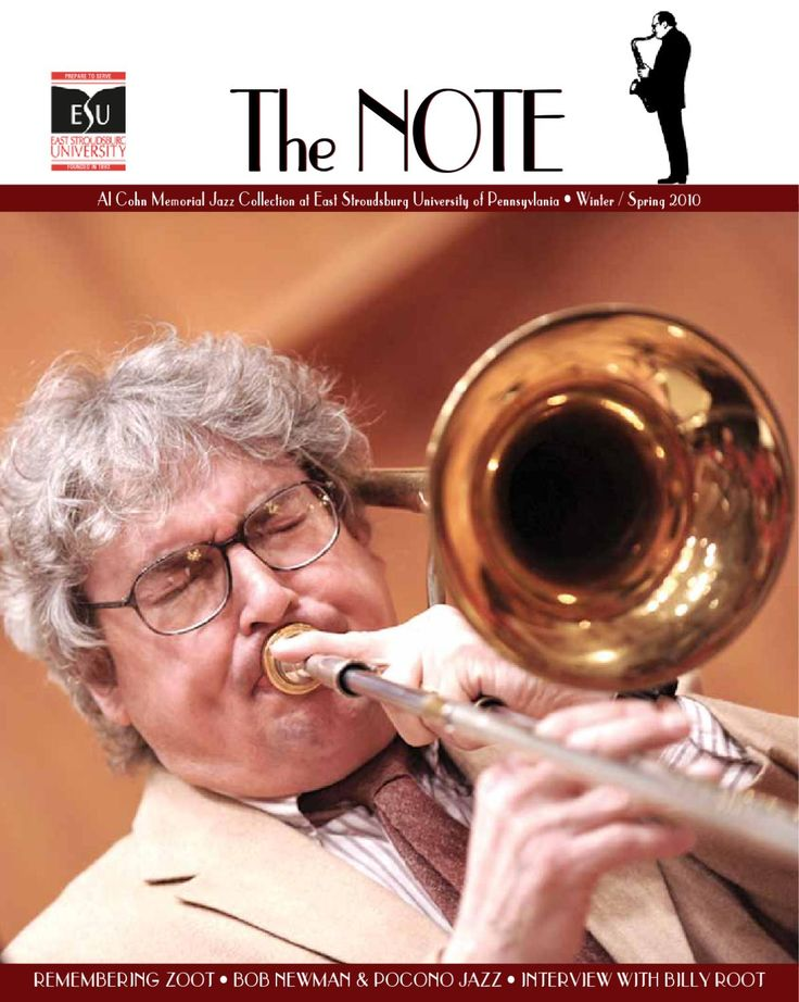10WS The Note  The magazine of the Al Cohn Memorial Jazz Collection housed at East Stroudsburg University of Pennsylvania.