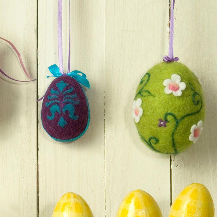 Gefilzte Ostereier in 3D - Filzideen zu Ostern. « Filzen « Stoffe & Nähen - Filzen - im Junghans-Wolle Online-Shop im Junghans-Wolle Creativ-Shop kaufen