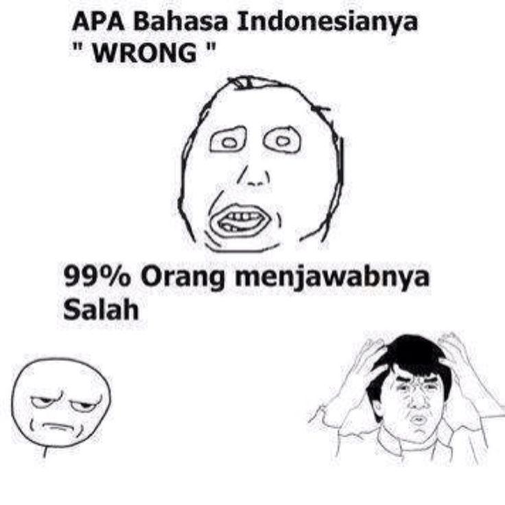 bahasa Indonesia'nya Wrong itu Salah