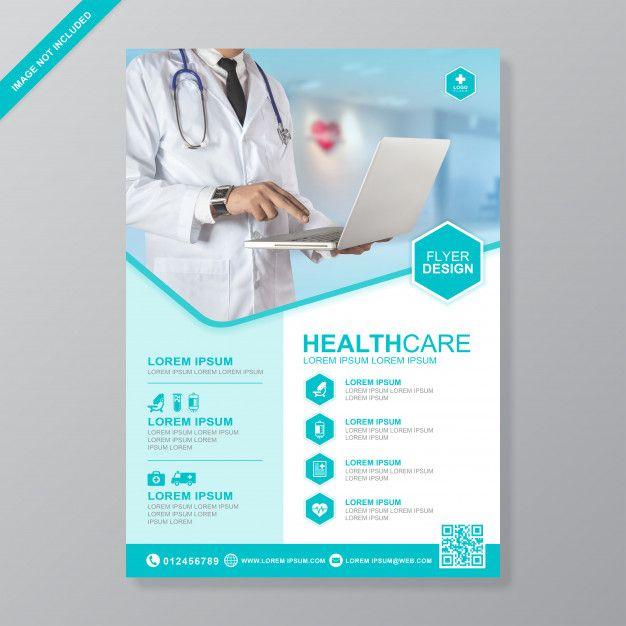 Health Care And Medical Cover A4 Flyer Design Template Premium Vector Freepik Vector Background Info Medical Brochure Flyer Design Templates Flyer Design