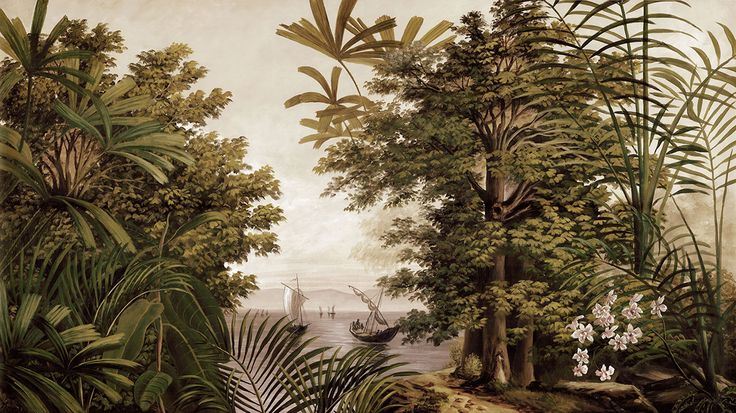 Paysages sépia - San Cristobal sépia L500xH280cm - ultra mat - 5 lés de 100cm