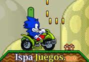 Sonic ATV And Mario Land: Juego de sonic, conduciendo la moto de mario, trata de llegar al final del camino recolectando monedas y tratar de no volvar http://www.ispajuegos.com/jugar5574-Sonic-ATV-And-Mario-Land.html