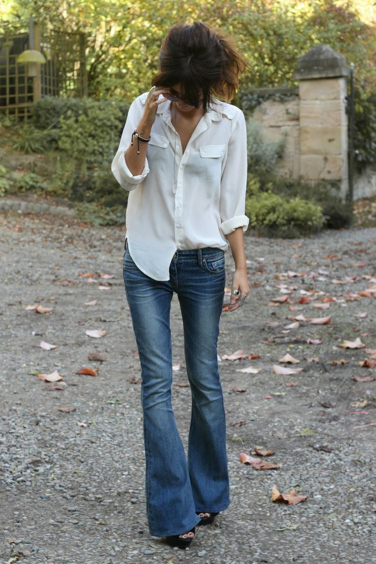 how to wear flared jeans outfit ideas 2017
