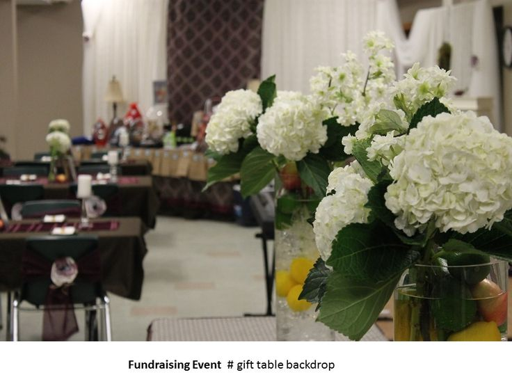 Fundraising Event  # gift table backdrop
