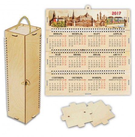 """Футляр-календарь деревянный четырехгранный """"Ретро"""" – Профессиональные сувениры"""