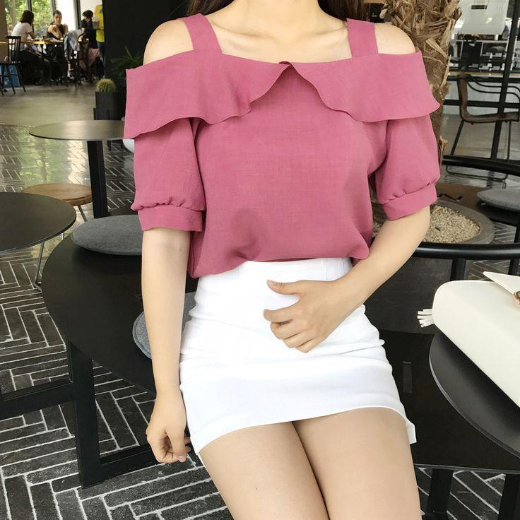 Cheongsunmi Off-Shoulder Blouse