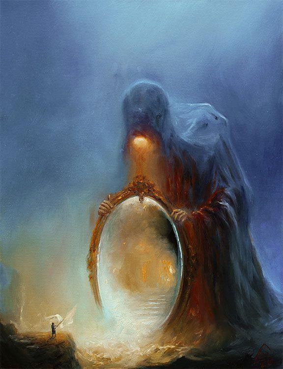 Otro de los dioses de Oscuridad en La Espada Sagrada.
