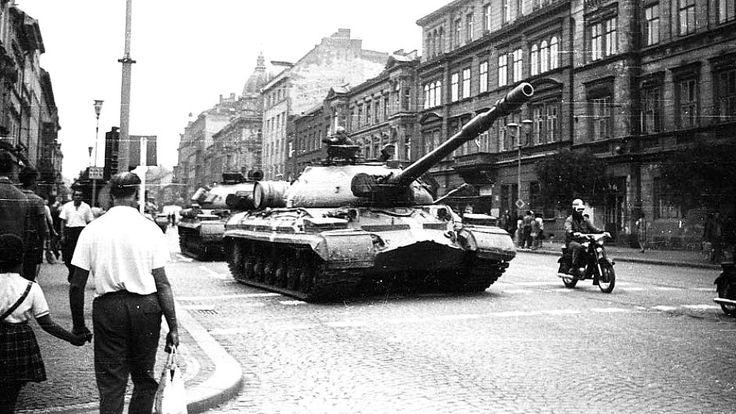 T-10M during Operation Danube near Pilsen, Czechoslovakia, August 1968.